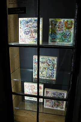 Small paintings in window